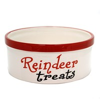 Tabletop REINDEER TREATS DISH Ceramic Hand Wash Only 9734162