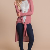 Fuel The Fire Duster Cardigan (Marsala)
