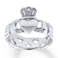 Women's Claddagh Ring Sterling Silver