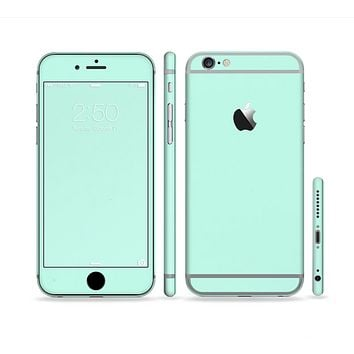 The Subtle Solid Green Sectioned Skin Series for the Apple iPhone 6
