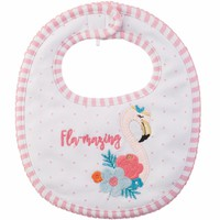 FLAMINGO BIB BY MUD PIE
