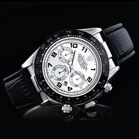 Rolex Popular Delicate Ladies Men Business Sport Movement Lovers Watch Black White Dial I-SBHY-WSL