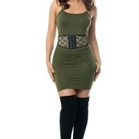 Irresistible Olive Mini Dress