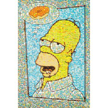 The Simpsons: Homer Donut Mosaic Poster 24x37