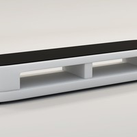 Divani Casa TV25 Modern White Bonded Leather TV Stand