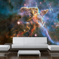 """Wall Ceiling MURAL space blue stars galaxy night sky decole poster 72""""x72"""""""