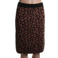 Charter Club Womens Animal Print Knit Knit Skirt