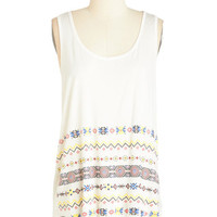 ModCloth Mid-length Tank top (2 thick straps) Step Out with the Sun Top