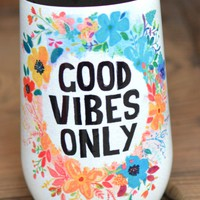 Natural Life Wine Tumbler - Good Vibes