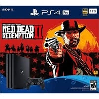 PlayStation 4 Pro 1TB Red Dead Redemption 2 Bundle