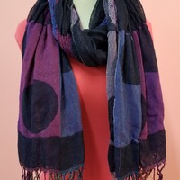 Luna Patterned Fringe Scarf