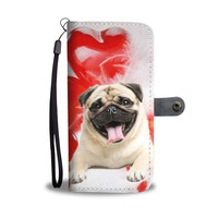Laughing Pug Wallet Case- Free Shipping