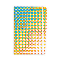 """Dawid Roc """"Psychedelic Art"""" Yellow Blue Everything Notebook"""