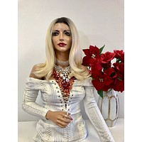 """Ombre Blonde FRENCH Lace Front Wig 