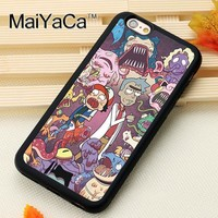 MaiYaCa Rick and Morty s Printed Soft TPU Mobile Phone Cases OEM For iPhone 6 6S Plus 7 8 Plus X 5S SE Back Shell CoverKawaii Pokemon go  AT_89_9