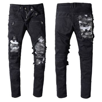 Orange Joggers camoflage trousers camo Jeans 2018 NEW KANYE WEST Fear of god Jeans Mens justin bieber jeans zipper Skinny jeans
