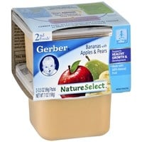 Gerber 2nd Foods NatureSelect Baby Food, Bananas with Apples & Pears, Bananas with Apples & Pears