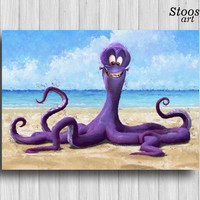 octopus print nautical decor octopus nursery wall art