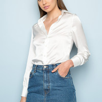 Ruby Silky Top - Tops - Clothing