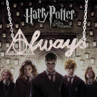 harry potter always necklace silver deathly hallows letter pendant