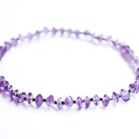 Amethyst Healing Bracelet Stretch Delicate Reiki Charged