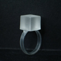 Resin cube ring resin jewelry Modern by GoldFingerBarcelona