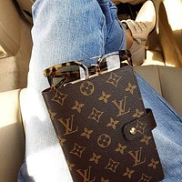 LV Louis Vuitton classic hot-selling notebook, memo, soft leather copy, writing book