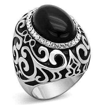 Fashion Rings For Women TK1211 Stainless Steel Ring with Synthetic