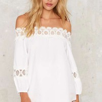 On the Edge Off-the-Shoulder Top
