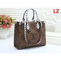 LV Fashion Hot Selling Ladies'Printed and Coloured Shopping Bag Brown