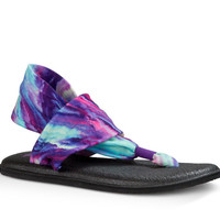 Sanuk Yoga Sling 2 Prints Purple Blue Marble Sandals