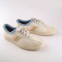 Canvas Sneakers Vintage 1980s Champions Pastel US sports Women's size 9