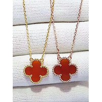 Van Cleef & Arpels:Lucky four-leaf grass necklace - the best present Red