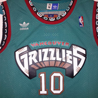 Vintage Vancouver Grizzlies Mike Bibby Jersey NBA Throwback Memphis Canada