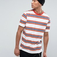 ASOS Relaxed T-Shirt With Retro Stripe & Ringer at asos.com