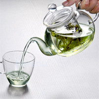 Practical Heat Resistant Bottle Cup Glass Teapot with Infuser Tea Leaf Herbal Coffee Office 350ML Drop Shipping