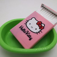 Women's ultra-thin silicone cigarette case cover Hello Kitty pink duck smoking cigarette box for lady