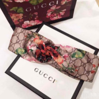 GUCCI Blooms Women Trending Fashion Casual Print Silk Headband G
