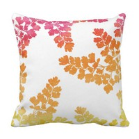 Fall Home - Watercolor Pillow - Autumn Expressions