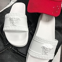 Versace white Fashion Slippers
