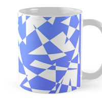 'Jumble of Triangles in Blue' Tasse by pASob-dESIGN
