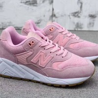 """New Balance 580"" Women All-match Fashion Sport Casual N Words Sneakers Goddess Pink Running Shoes"