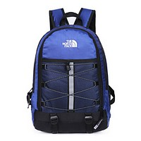 The North Face Fashion New Embroidery Letter Women Men Backpack Bag Blue