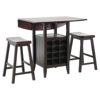 You should see this Reynolds Drop-Leaf 3 Piece Pub Set in Black on Daily Sales!