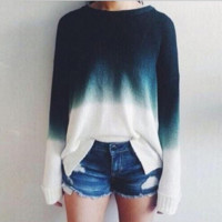Causal Ombre color sweater  B0014788