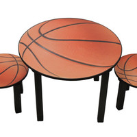 Childrens basketball theme activity table and chair set