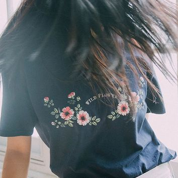 UO Wildflower Tee   Urban Outfitters