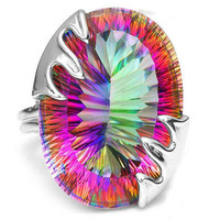 Arianna Classic Mystic Fire Topaz 925 Sterling Silver Ring