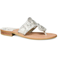 Jack Rogers Lacey Sandal- Silver