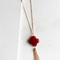 Take Heart Necklace in Burgundy